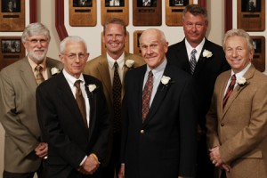 2009 Boulder County Business Hall of Fame Inductees: Pictured left to right: Jerry Lewis & Jeff Schott (not pictured), Jerry Lee, Jay Elowski, Bill Boettcher, Richard Herring, Lou DellaCava